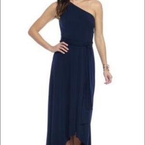Vince Camuto Dress Gown One Shoulder Blue